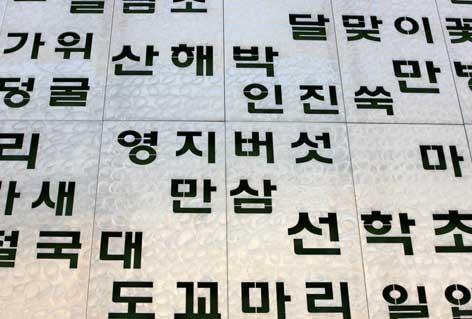 Les 5 éléments et l'écriture coréenne